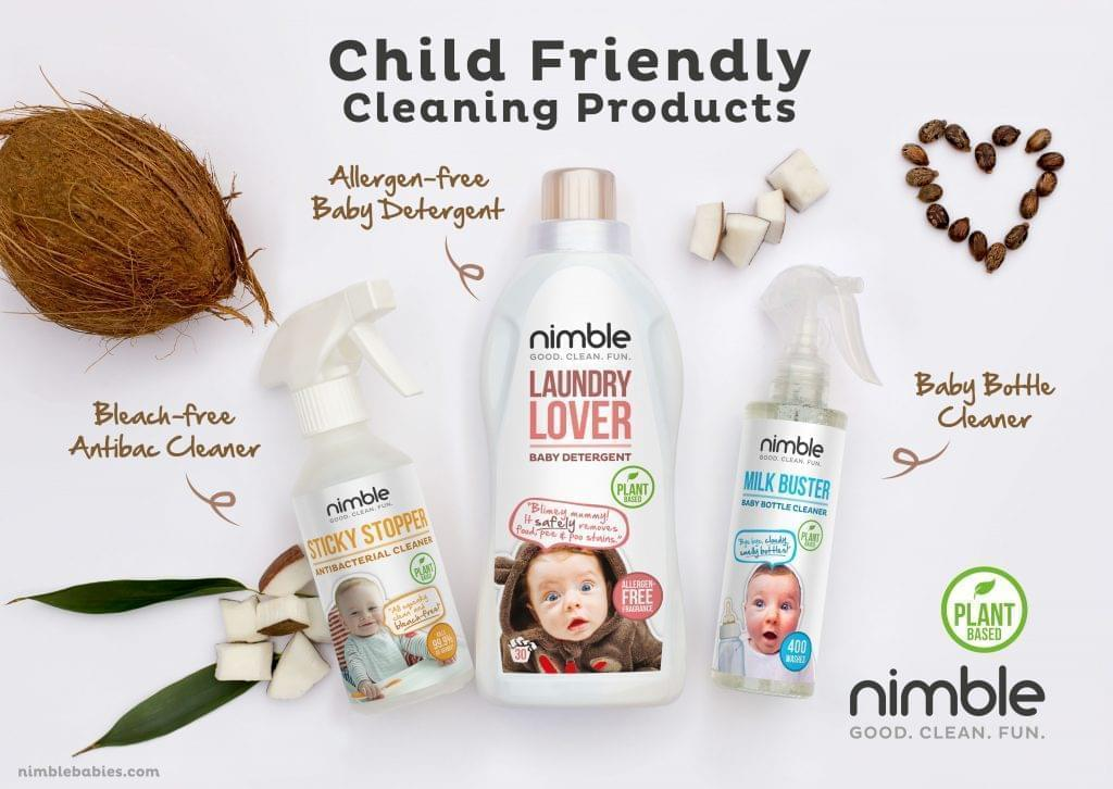 Child friendly cleaning products